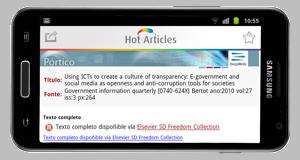 Pulse para ver a simulación de bX Hot Articles no seu móbil